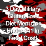 3 Day Military Gluten-Free Diet Menu for Under $41 In Food Cost!